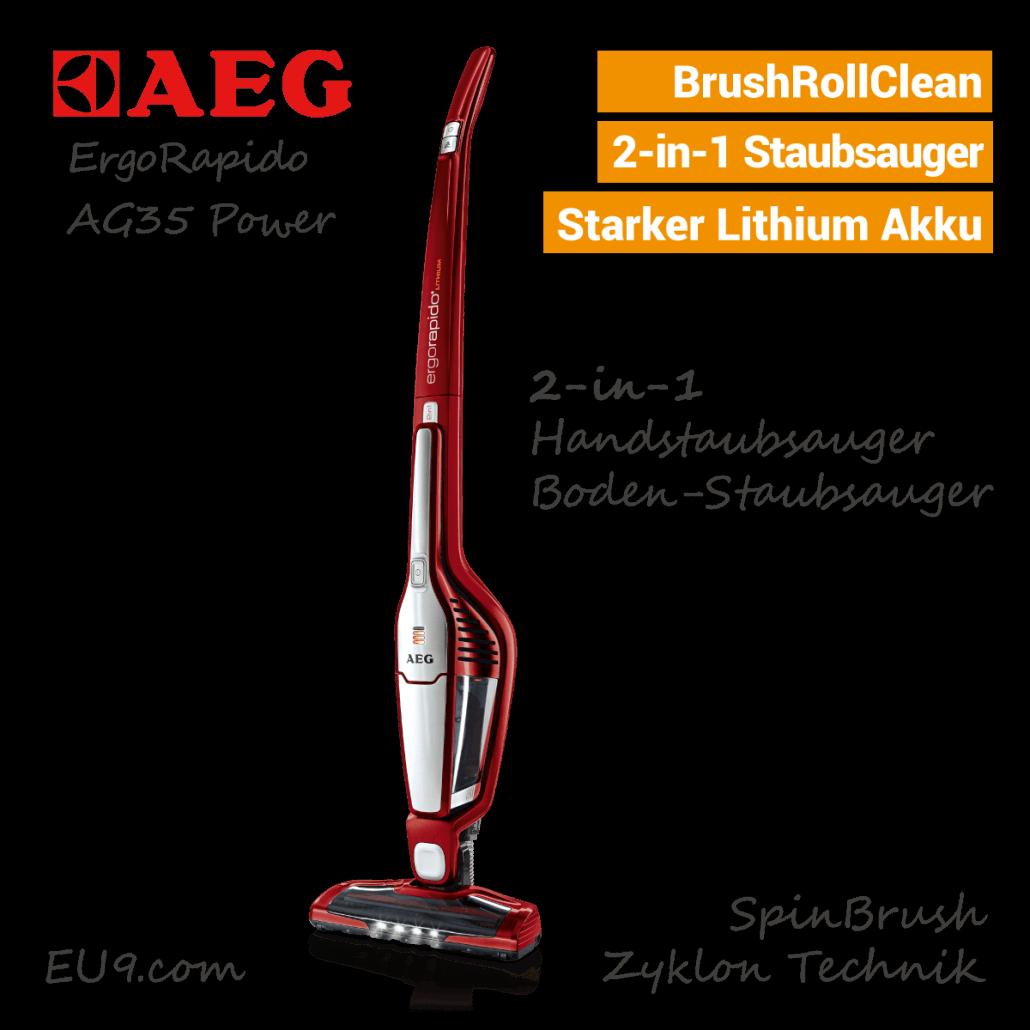 AEG ErgoRapido AG35 Power Akku-Staubsauger