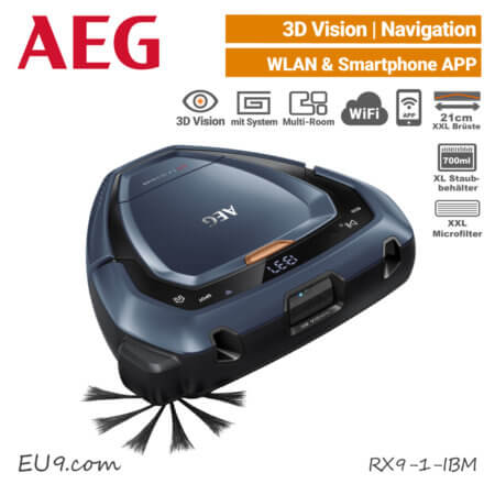 AEG RX9-1-IBM Saugroboter 3D-Vision Wifi WLAN EU9