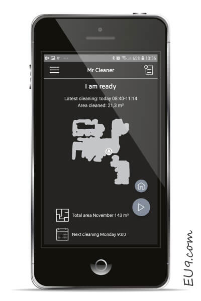 AEG RX9 Saugroboter APP iPhone-Android Einstellungen