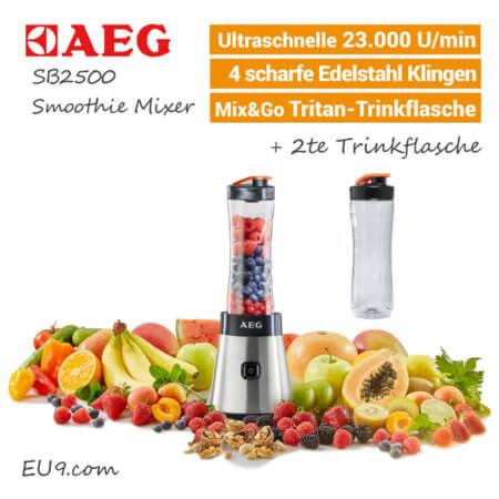 AEG SB2500 Smoothie Mixer mit Früchte