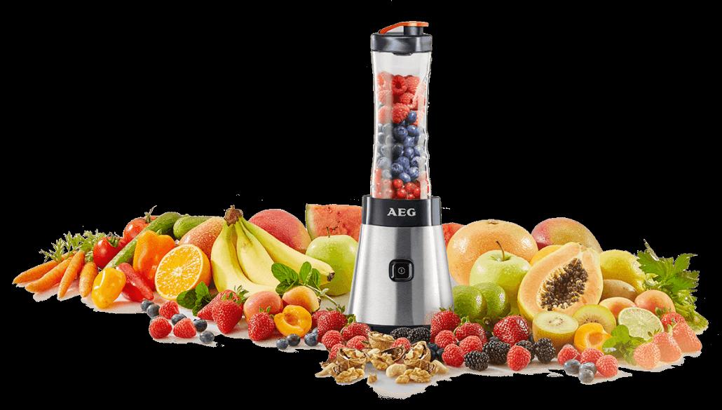 AEG SB2500 Smoothie Mixer mit Früchten
