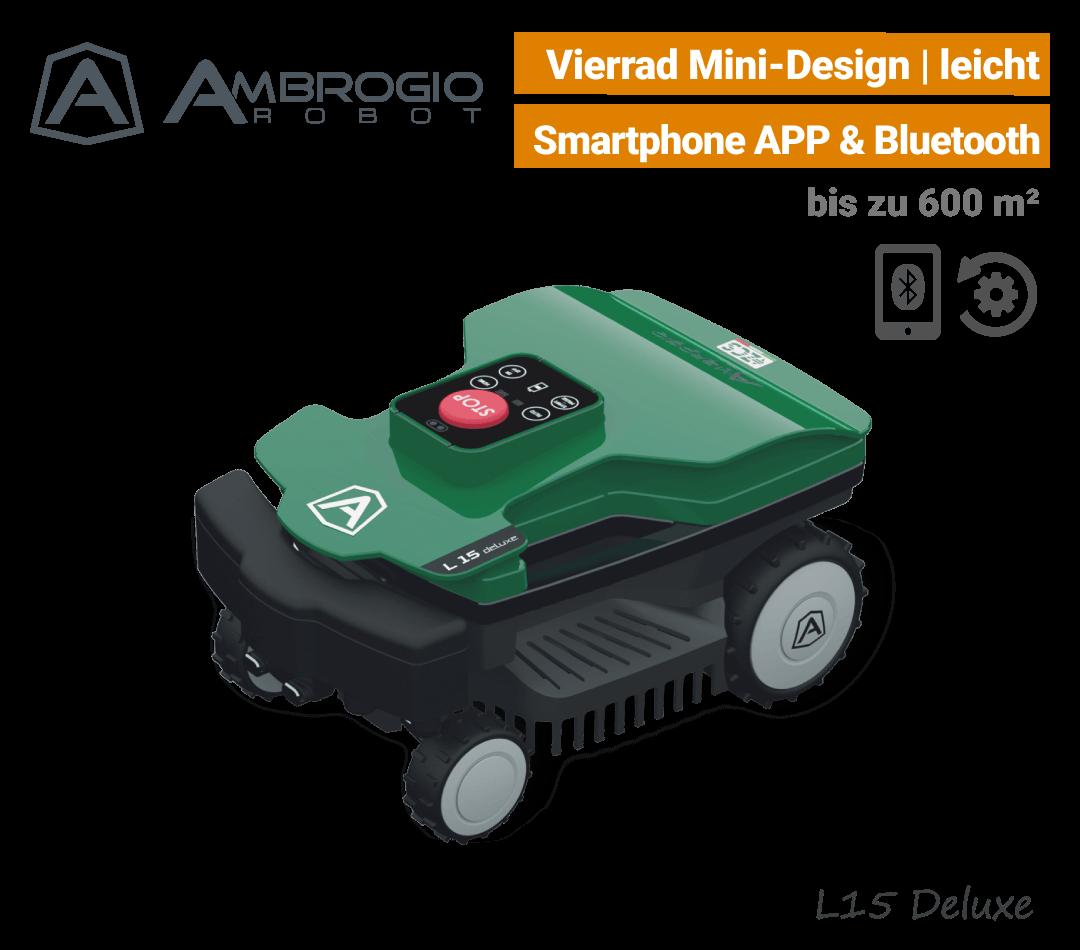 Ambrogio L15 Deluxe Mini-Mähroboter Rasenroboter EU9