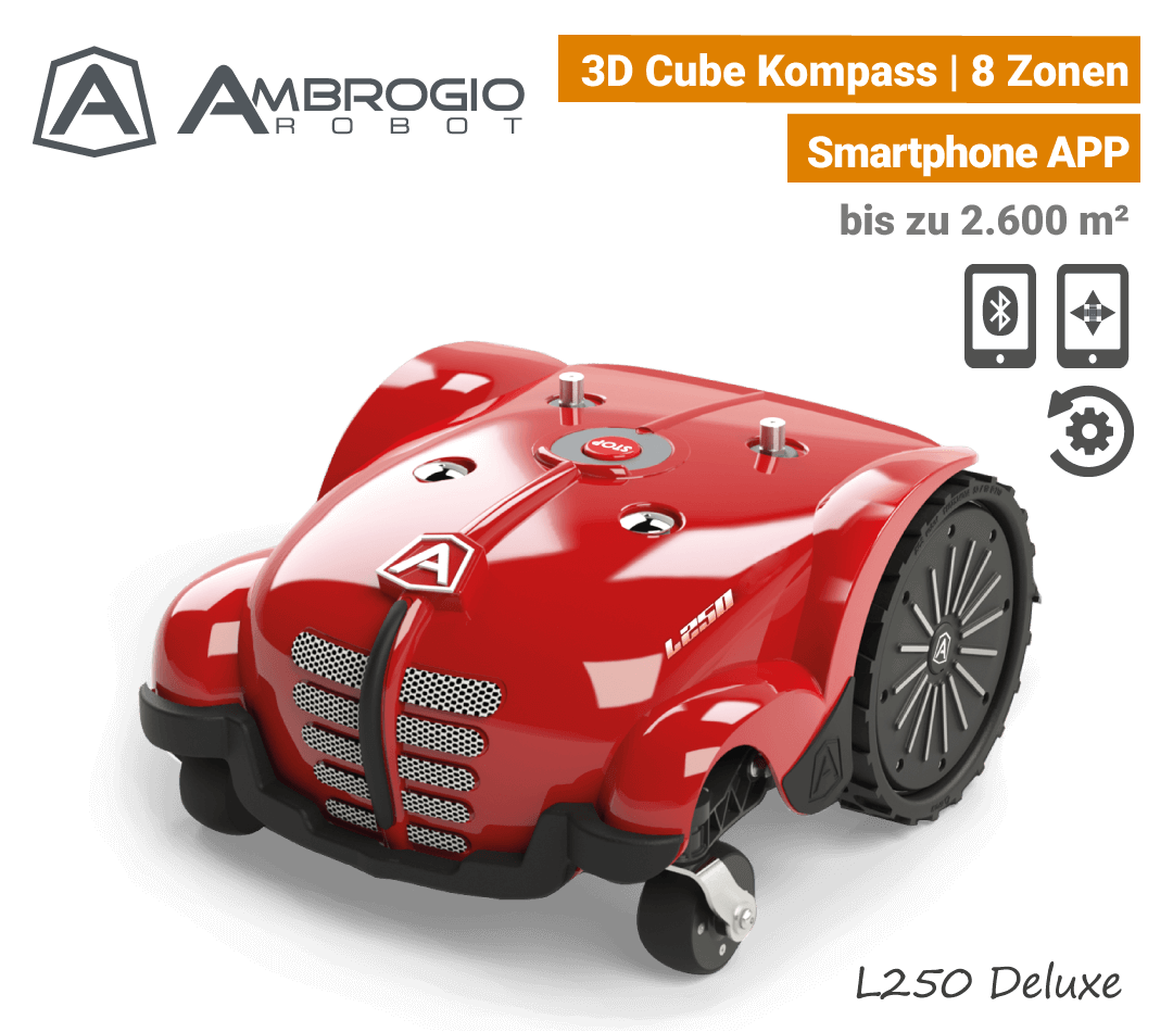 Ambrogio L250 Deluxe Mähroboter Rasenroboter EU9