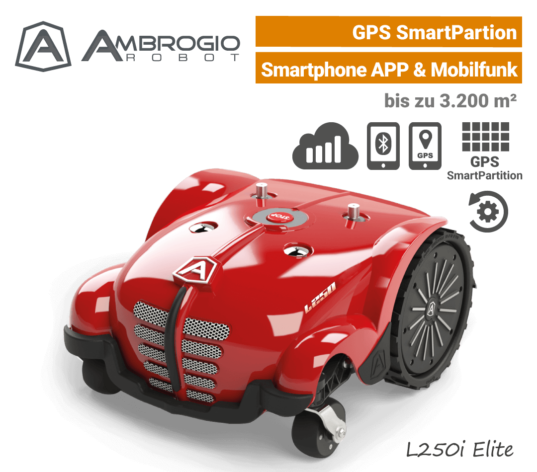 Ambrogio L250i Elite GPS Mähroboter-Rasenroboter Mobilfunk L250 EU9
