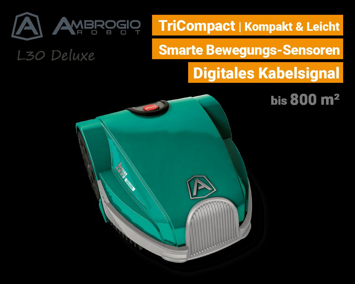 Ambrogio L30 Deluxe Rasenroboter Mähroboter EU9