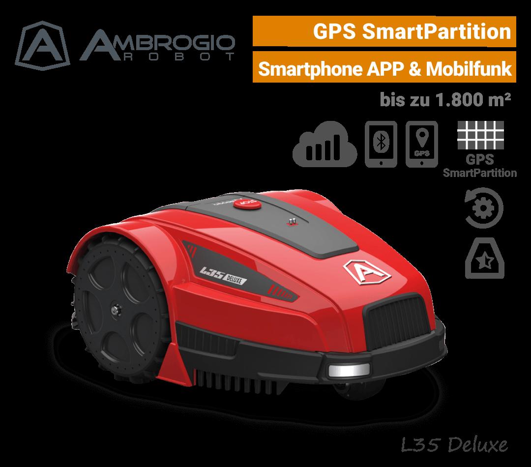 Ambrogio L35 Deluxe GPS Mähroboter-Rasenroboter Mobilfunk EU9