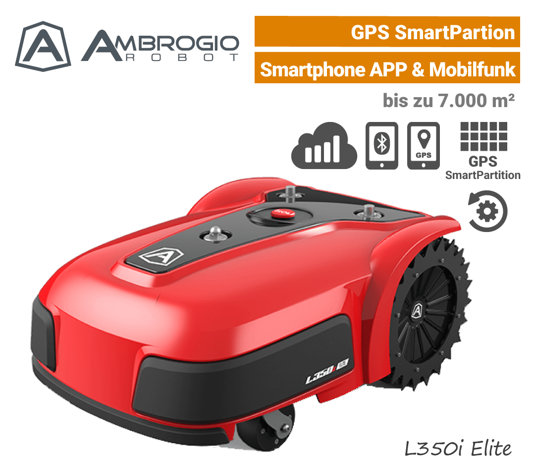 Ambrogio L350i Elite GPS Mähroboter-Rasenroboter Mobilfunk L350 EU9