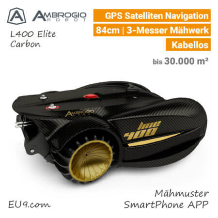 Ambrogio L400 Elite GPS Rasenroboter-Mähroboter EU9