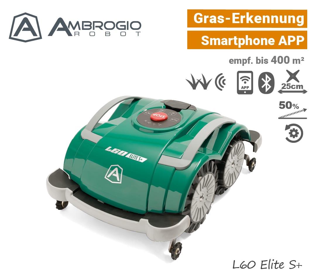 Ambrogio L60 Elite S+ Mähroboter ohne Begrenzungsdraht - EU9