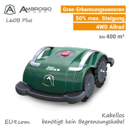 Ambrogio L60B+ Plus Kabellos Rasenroboter Mähroboter EU9