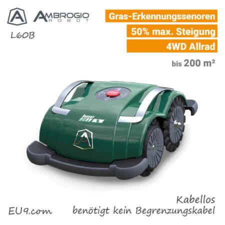 Ambrogio L60B Kabellos Rasenroboter Mähroboter EU9