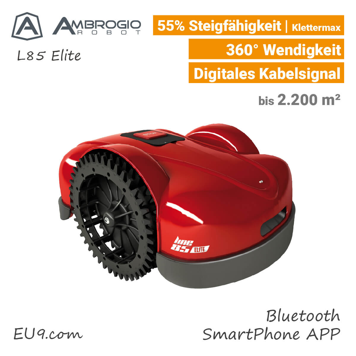 ambrogio l85 elite rasenroboter klettermax jetzt g nstig bei eu9 kaufen. Black Bedroom Furniture Sets. Home Design Ideas