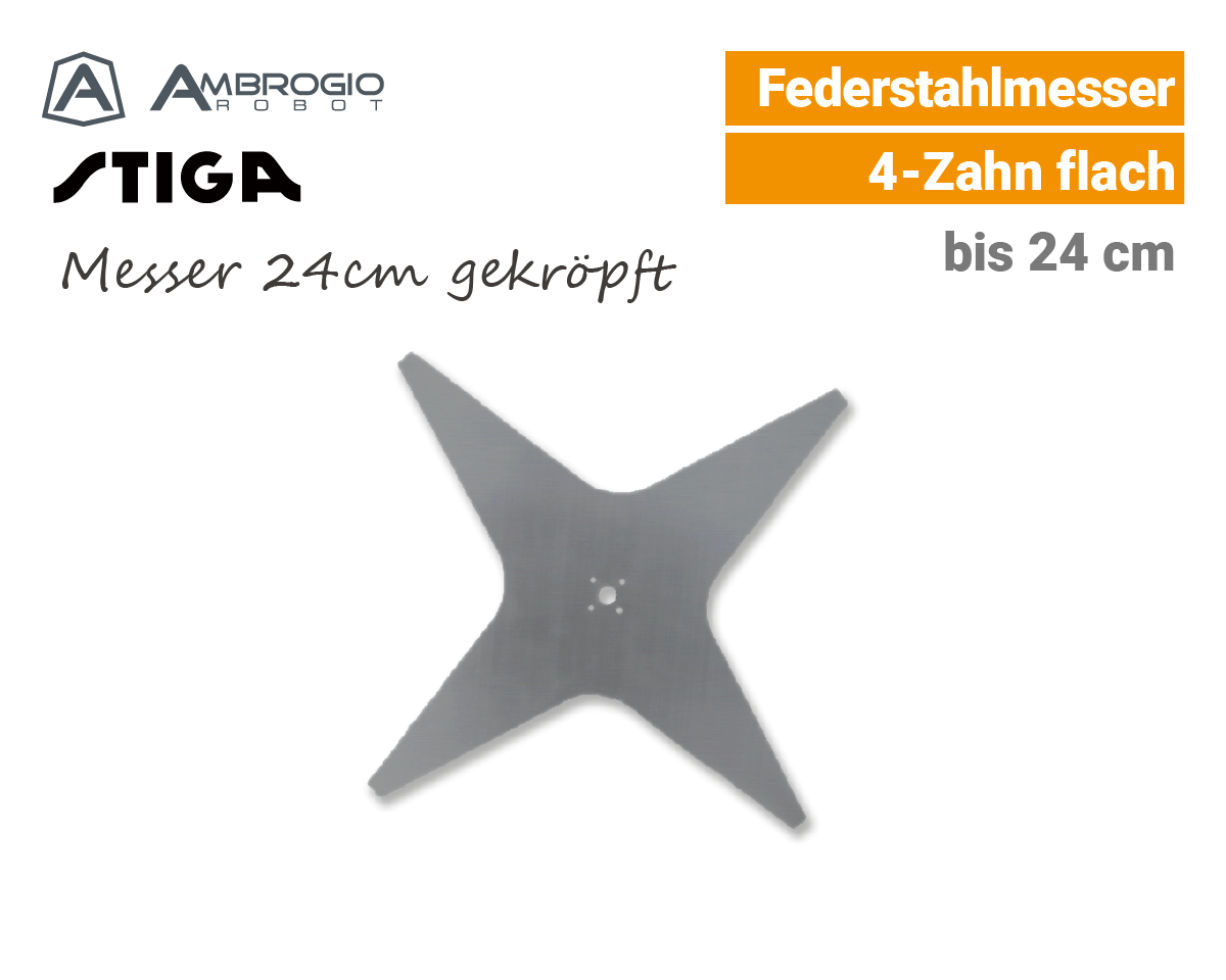 Ambrogio Messer 24cm gekroepft Mähroboter EU9