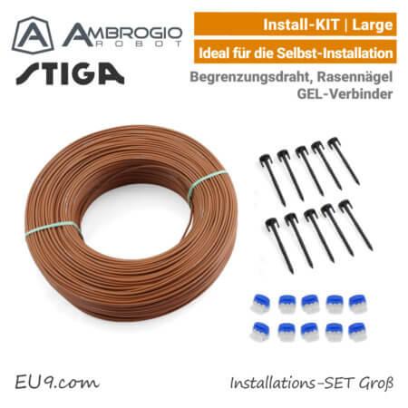 Ambrogio Stiga Installations-Kit Install-Kit L Groß Verlege-SET Large EU9