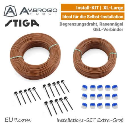 Ambrogio Stiga Installations-Kit Install-Kit XL Extra-Groß Verlege-SET X-Large EU9