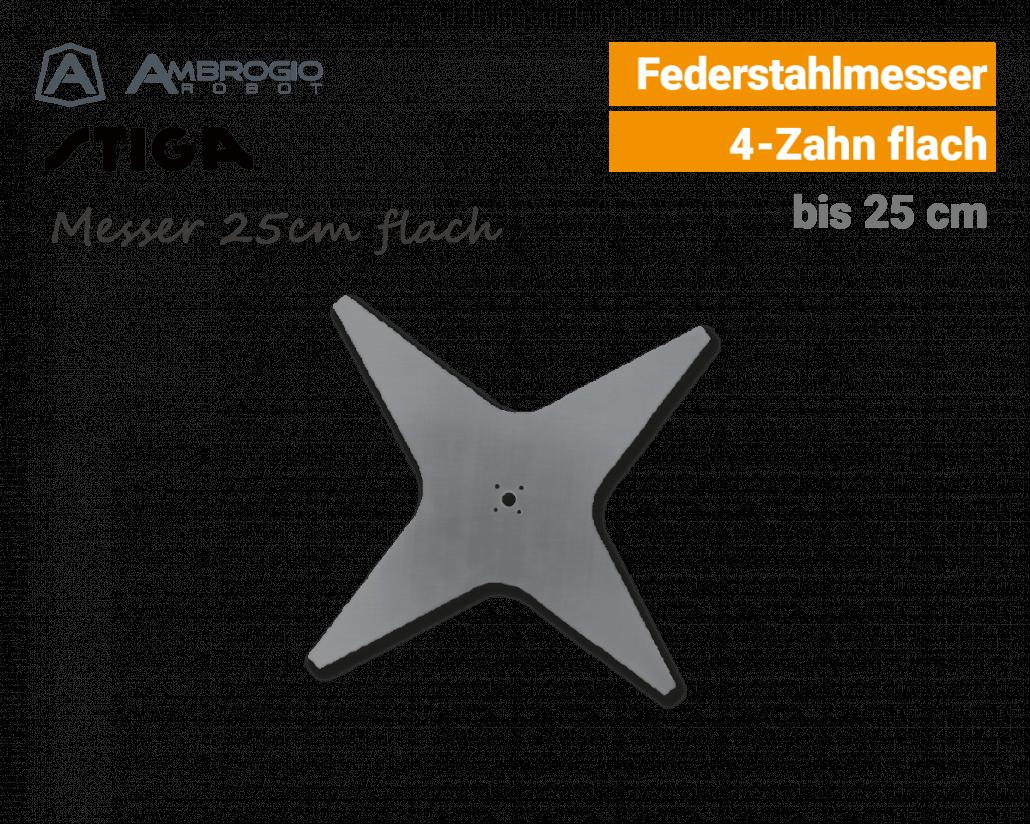 Ambrogio-Stiga Messer 25cm flach Rasenroboter EU9