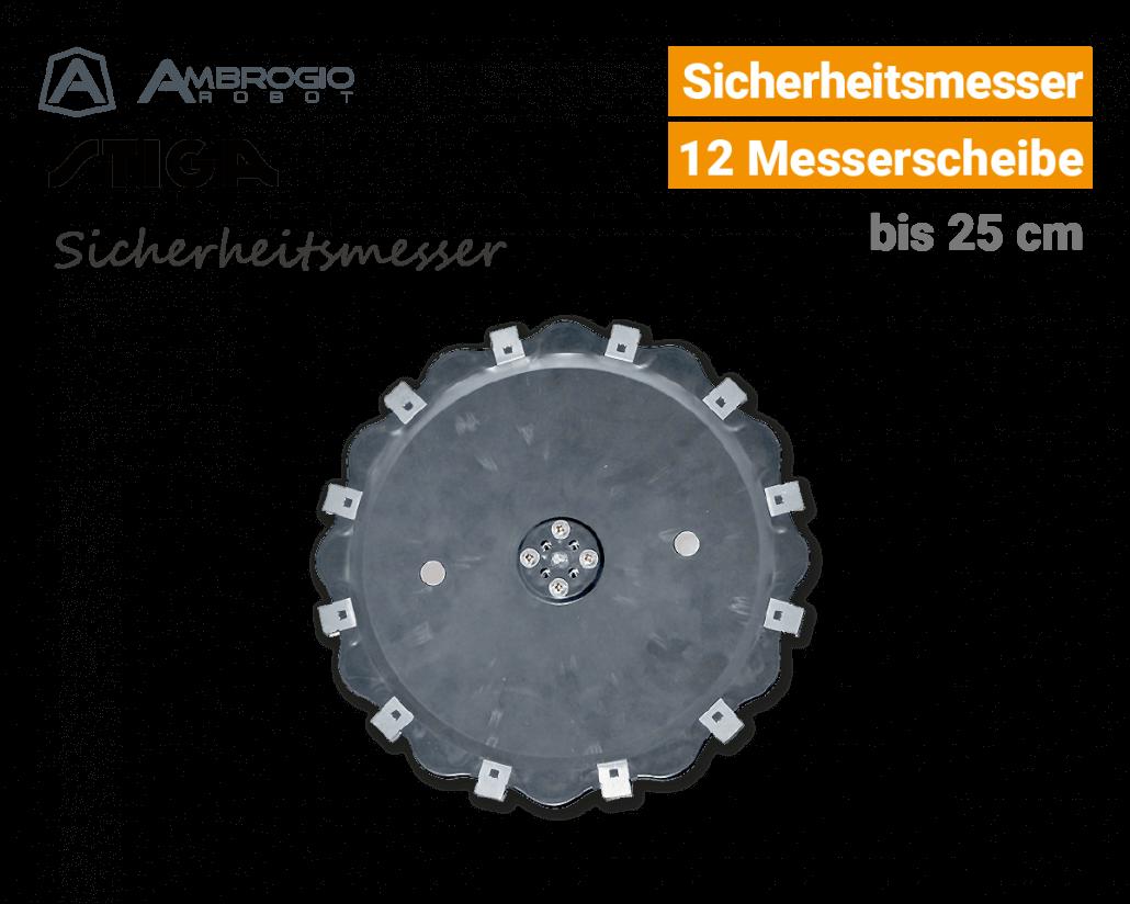 Ambrogio-Stiga Sicherheitsmesser 25cm Rasenroboter EU9