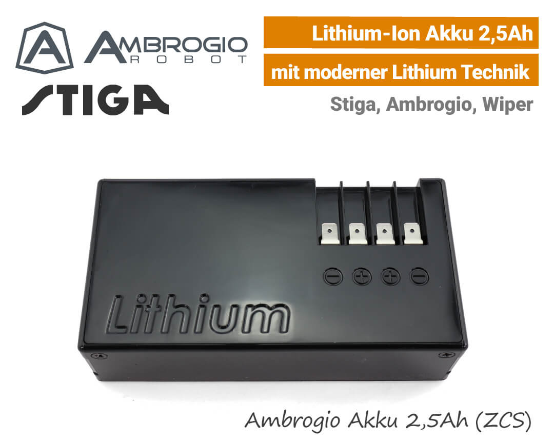 Ambrogio Stiga Wiper Akku 2,5Ah Lithium-Ion EU9