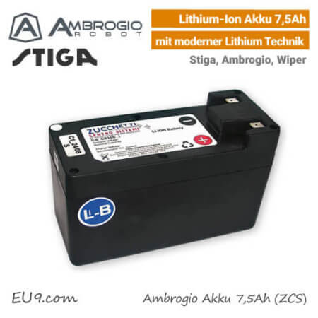 Ambrogio Stiga Wiper Akku 7,5Ah Lithium-Ion EU9
