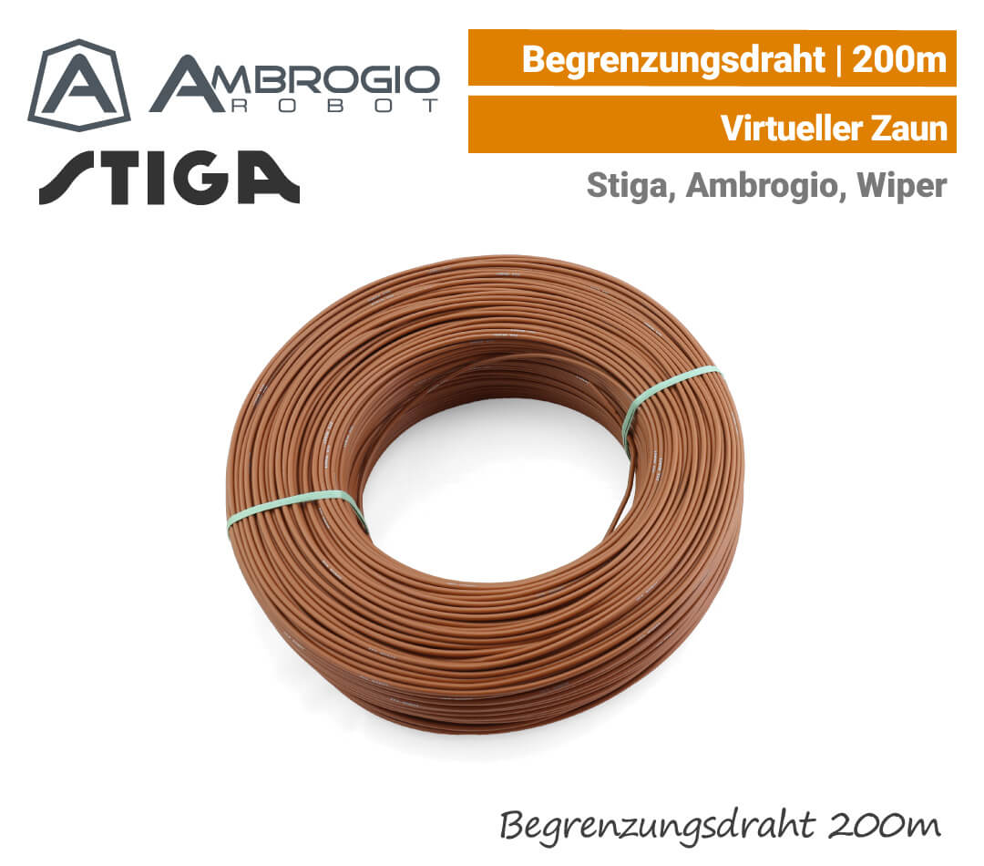 Ambrogio Stiga Wiper Begrenzungsdraht 200 m EU9