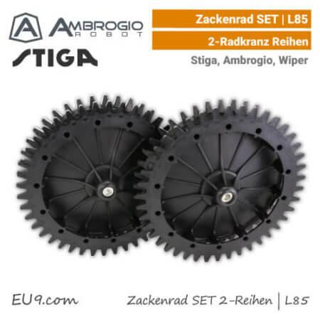 Ambrogio Stiga Wiper Zacken-Rad L85, L75, Agro 2-Radkranz-Reihen EU9