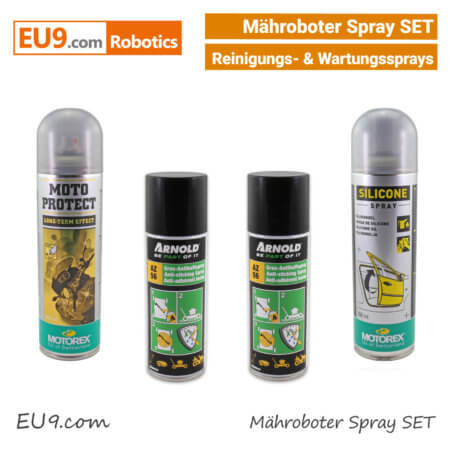 Arnold Motorex Mähroboter Wartung- Serivice- Reinigungs- Spray SET