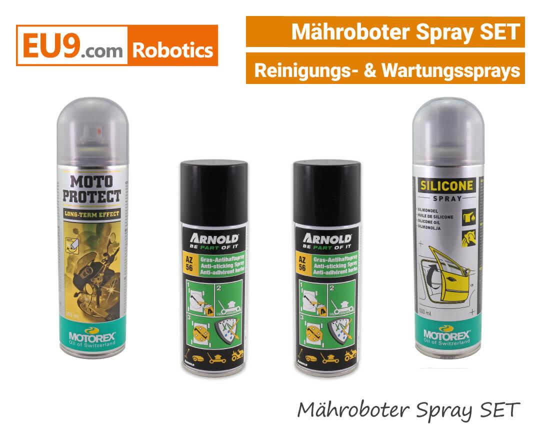 Arnold Motorex Mähroboter Wartung- Serivice- Reinigungs- Spray SET