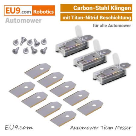 Automower Messer-Klingen Carbonstahl Titan SET EU9