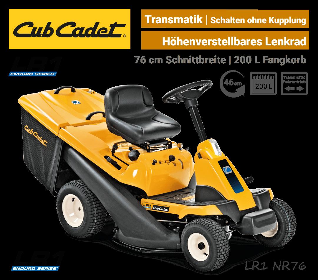 Cub Cadet LR1 NR76 Transmatic Aufsitzmäher Mini-Rider EU9