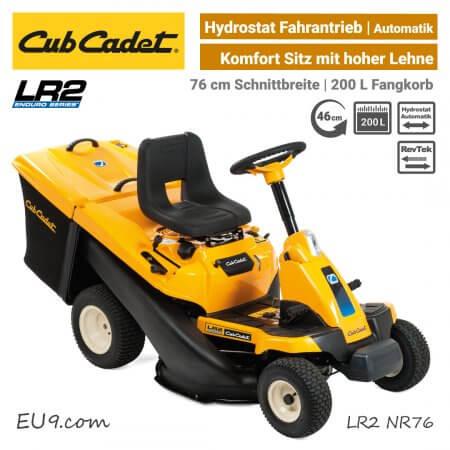 Cub Cadet LR2 NR76 Hydrostat Aufsitzmäher Mini-Rider EU9