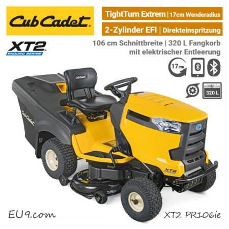 Cub Cadet XT2 PR106 ie Direkeinspritzung EFI 2-Zylinder Bluetooth Rasentraktor EU9