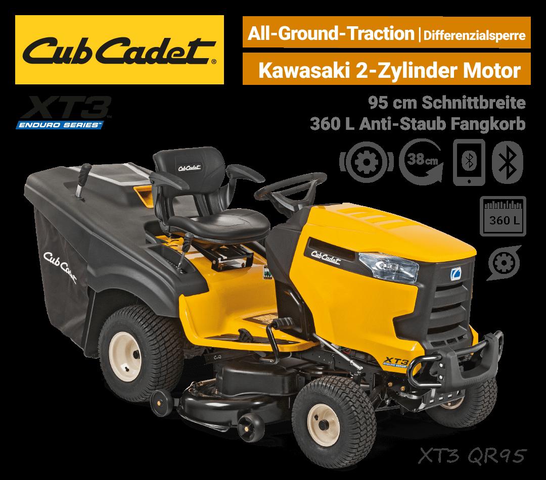 Cub Cadet XT3 QR95 Diffrenzialsperre Bluetooth Rasentraktor EU9