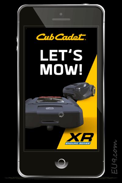 CubCadet XR APP-Einstellungen EU9