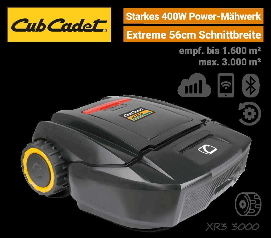 CubCadet XR3 3000 Mähroboter-Rasenroboter Mobilfunk EU9