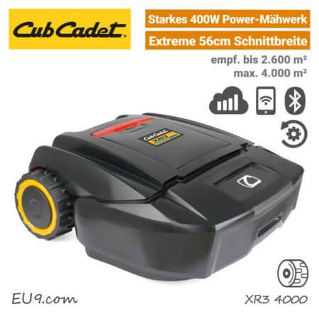 CubCadet XR3 4000 Mähroboter-Rasenroboter Mobilfunk EU9