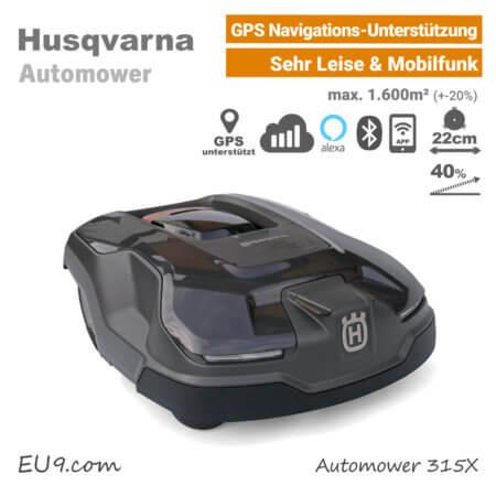 Husqvarna Automower 315 X GPS Mähroboter Rasenroboter EU9