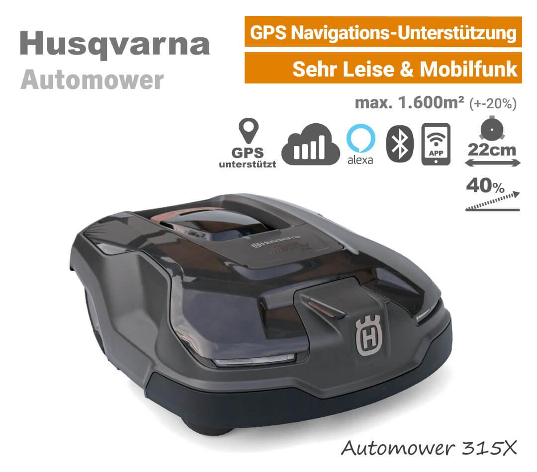 Husqvarna Automower 315 X GPS Mähroboter-Rasenroboter EU9