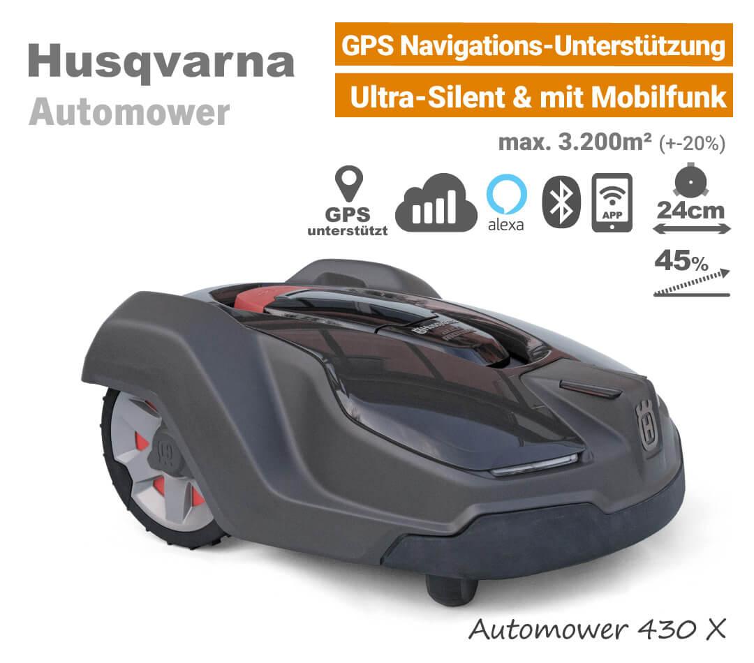 Husqvarna Automower 430 X GPS Mähroboter-Rasenroboter EU9