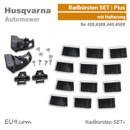 Husqvarna Automower Radbüsten Abstreifer SET 420,430X,440,450X EU9