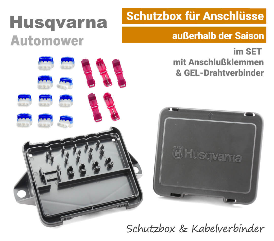 Husqvarna Automower Schutzbox mit Kabelverbinder-Drahtverbinder & Anchlussklemmen EU9