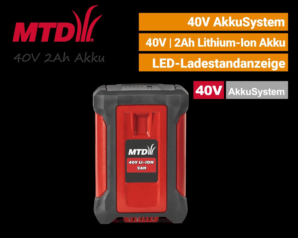 MTD 40V 2Ah Akku Lithium-Ion 40 Volt EU9