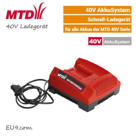 MTD 40V Schnell-Ladegerät 40 Volt EU9