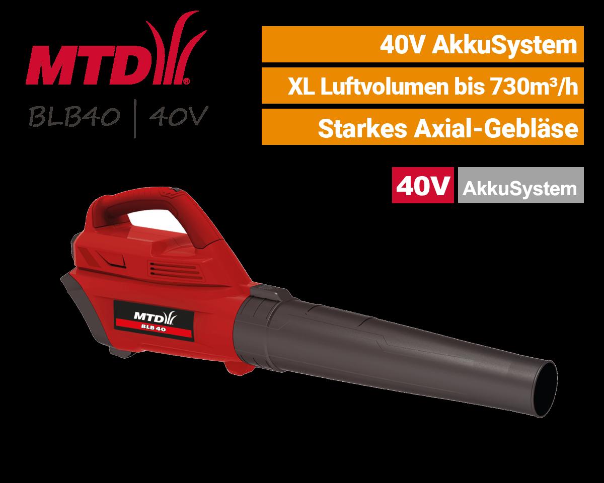 MTD BLB 40 - 40V Akku-Laubbläser 40 Volt EU9