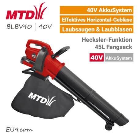 MTD BLBV 40 - 40V Akku-Laubsauger 40 Volt EU9