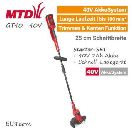 MTD GT 40 - 40V Akku-Trimmer 40 Volt EU9