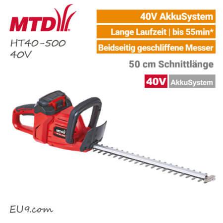 MTD HT 40-500 40V Akku-Heckenschere 40 Volt EU9