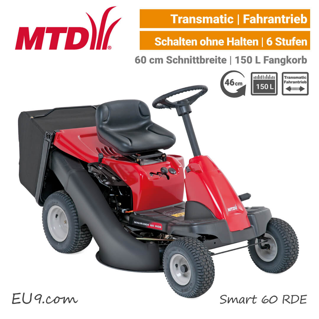 neu 2019 mtd smart 60 rde minirider mit fangkorb. Black Bedroom Furniture Sets. Home Design Ideas
