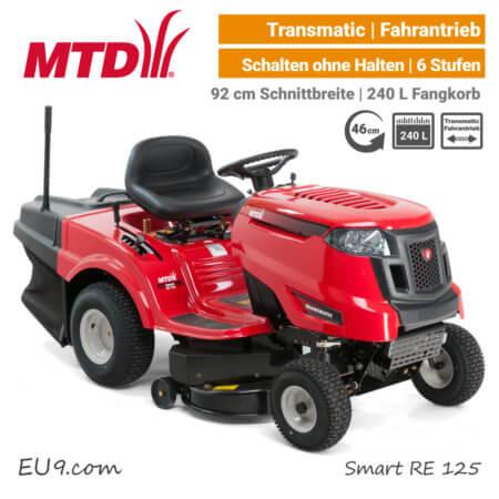 MTD Smart RE 125 Transmatic Rasentraktor Aufsitzmäher mit Fangkorb EU9