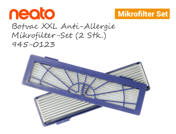 Neato Botvac D XXL Anti-Allergie Mikrofilter Set 2stk 945-0123
