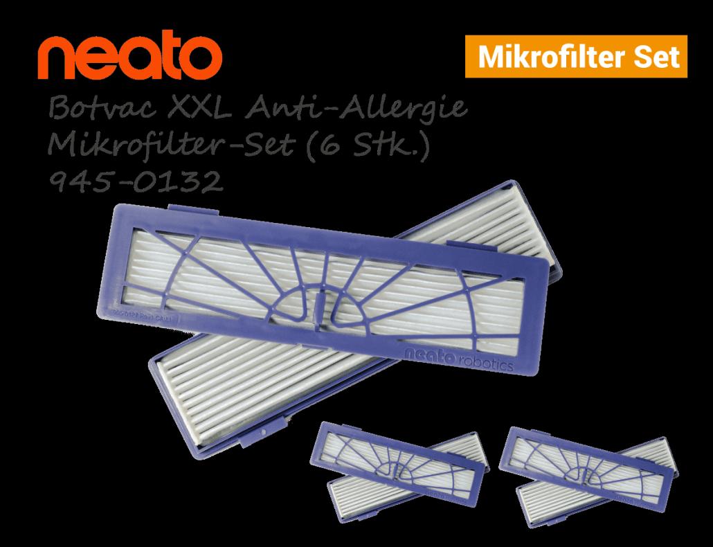 Neato Botvac D XXL Anti-Allergie Mikrofilter-Set 6stk 945-0132
